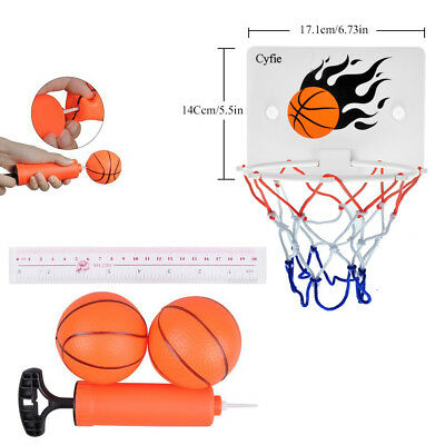 Mini Hoop Backboard Net Set with Basketball Indoor Outdoor Toy for children kids