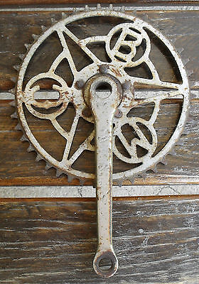 Vintage Rare Bicycle Chain Crank. Utility  British Made = Makers Letters ?
