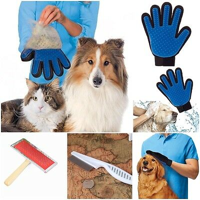 Pet Puppy Brush Gloves Efficient Massage Groomer Cleaning Comb Hair Remover New