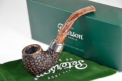 Peterson  Derry Rustic 221 Coffee  Fishtail Tobacco Pipe 9 mm filter
