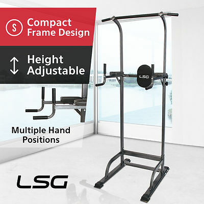 Power Tower - Dips, Knee Raises, Chin up Fitness Station Home Gym