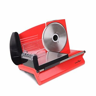 #SALE Electric Meat Slicer Cheese Processor Bread Blade Ham Deli Fruit RED