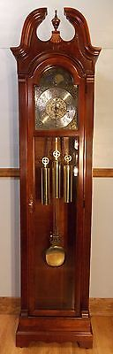 Grandfather Clock - excellent condition/exc working order/Wchimes/solid mahogany
