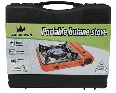 Butane Stove Portable Single Gas Burner Camp Cooker with Case Cooking AGA APPRO