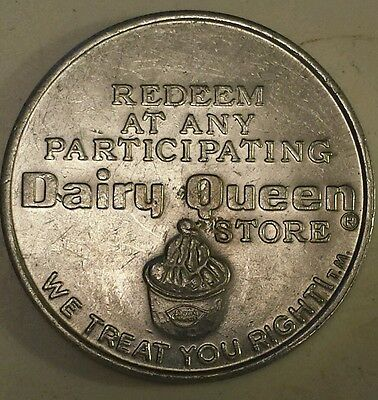 """""""dairy Queen 40 Cent Redeemable Free Sundae/treat"""" Token - Excellent Condition"""