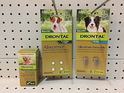 ~Bayer Bay-O-Pet Drontal Allwormer / Puppies / Sml Dogs & Puppies / Dogs 10Kg~