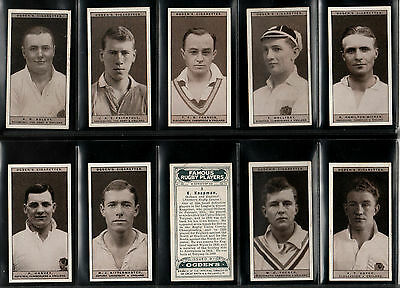 "Ogdens 1926 Scarce ( Rugby ) Full 50 Card Set """"  Famous Rugby Players  """""