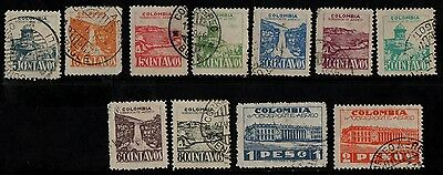 1945 Colombia Air Stamp(F.used) S.g.622-632