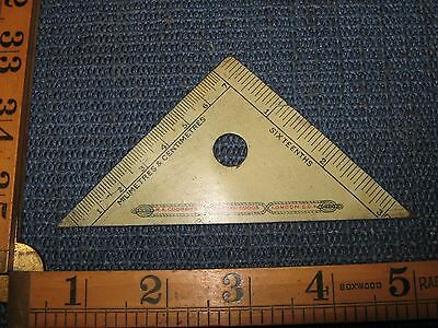 Rare Steel Vintage Set Square Gauge Advertising Tool Ma Coombs Carded Goods