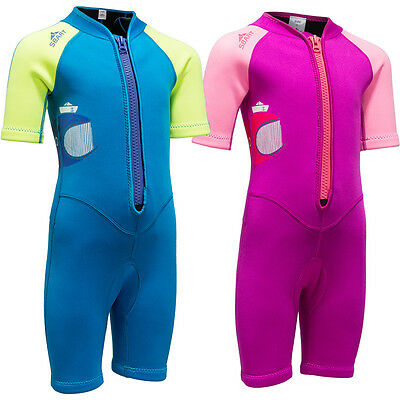 2MM Neoprene Kids Baby Girls Boys Wetsuits Diving Suits Snorkel Rash Guards Surf