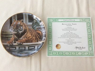 Franklin Mint Collectors Plate REFLECTIVE TIGER By The Artist Ron Kimball