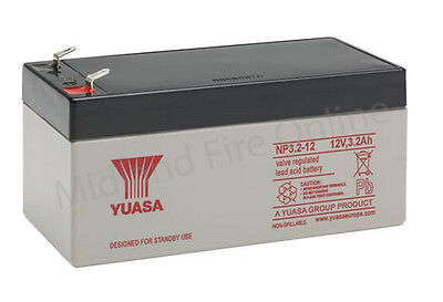 Yuasa Battery, Genuine, 12v / 3.2Ah Sealed Lead Acid Battery - NP3.2-12 FREE P&P