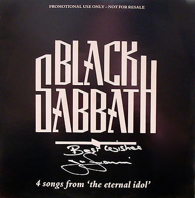 "Black Sabbath - 4 Songs From The Eternal Idol. 1987 Promo 12"" Tony Iommi SIGNED"