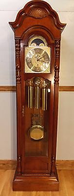 Grandfather Clock(SLIGH 2) exc cond/exc working order/Hermle triple chimes/mahog