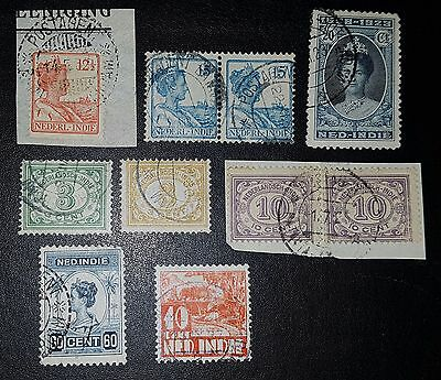 NED-INDIE Mixed Used Stamps (No1182)
