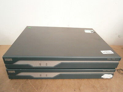 JOB LOT 2 x Cisco 1841 V05 Integrated Services Router ** WORKING ** inc.VAT !