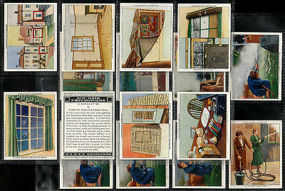 "Churchman 1938 Interesting ( War Defences ) 48 Card Set "" Air-Raid Precautions"
