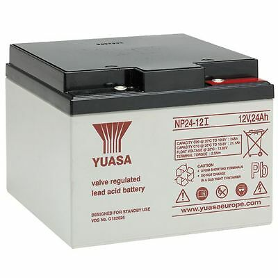 Yuasa Battery, Genuine, 12v / 24Ah Sealed Lead Acid Battery - NP24-12 FREE P&P