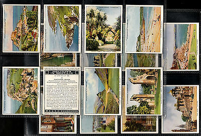 "Churchman 1938 Interesting ( Scenes ) Full 48 Card Set "" Holidays In Britain """