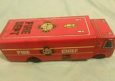 Vintage Tin Toy Fire Engine Made in Japan