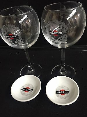 Martini cocktail Balloon Glasses Olive Dishes 2 home bar cocktail pub man cave