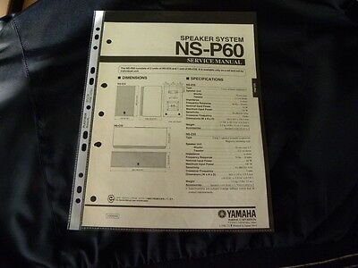 Yamaha NS-P60  Factory Original Service Manual New