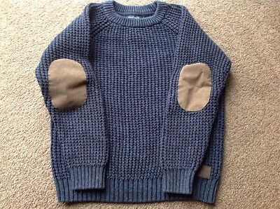 Immaculate Next Age 9 Boys Chunky Winter Blue Jumper