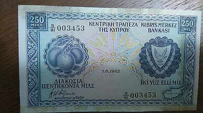 Central bank of cyprus 250  s/81   1982