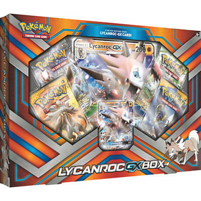 Pokemon Lycanroc-GX Box Sun and Moon - Brand New and Sealed UK Seller