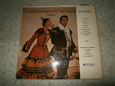 The Barber Of Seville Highlights Rossini Galliera Columbia SAX 2438 LP