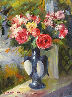 """Cremona Floral Original Hand Painted 12""""x16"""" Oil Painting Canvas Art"""