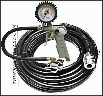Air Line 18M Inflator And Gauge Kit ,pump Tyre Set [Truck Parts & Accesories]