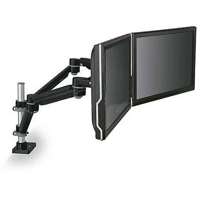 Dual Monitor Arm, Highly Adjustable, Black