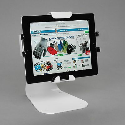 Universal Desktop Tablet Mount With Standard Hardware, White
