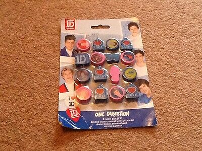One Direction Rubbers