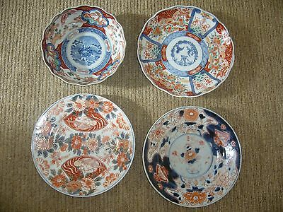 Collection Of Antique Japanese Imari Plates And Bowl.