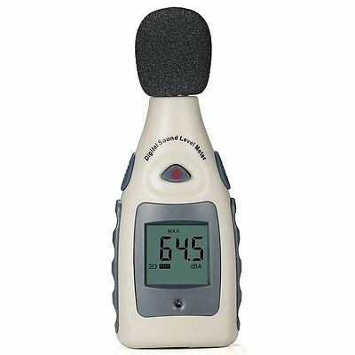 Decibel meter Digital Sound Level Meter Tester 30-130dB with LCD Display, Auto