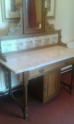 Victorian marble top washstand