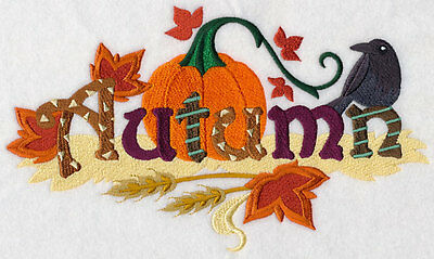 Embroidered Signs of autumn quilt block,fabric,cushion panel,gift,mothers day
