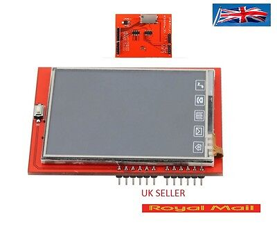 """2.4"""" TFT LCD Shield Touch Panel Module TF Micro SD For Arduino UNO R3 UK #B173"""