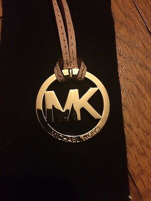 New Authentic Michael Kors Charm W. Leather Strap