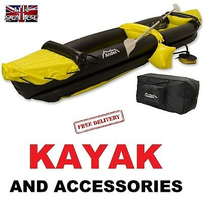 Inflatable Kayak Blow Up 2 Person Canoe With Paddle MOTORHOME CAMPER OUTDOOR FUN