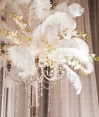 50 pcs  white ostrich feathers 8-10 inches / 20-25 cm For weddings  A10