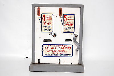 Vintage US Postage Stamp Dispenser Vending Machine Coin Operated Working