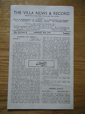 1946 / 1947 ASTON VILLA v BLACKPOOL FOOTBALL PROGRAMME