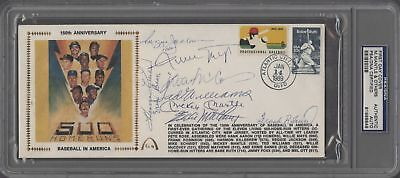 Mickey Mantle Ted Williams Willie Mays Banks 500 HR Club Signed FDC PSA DNA COA