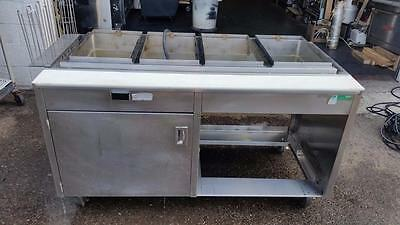 """Hot Food Steam Table Commercial Kitchen 62""""Wide 4 Well 208V/3Ph.Hatco"""