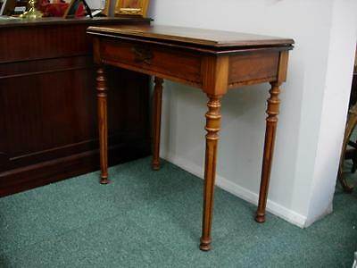Late Victorian Walnut card Table