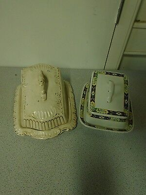 Pair of vintage cheese dishes