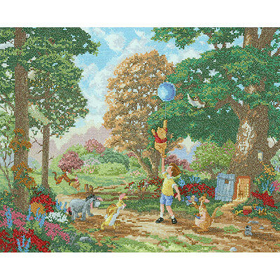 """Disney Dreams Collection By Thomas Kinkade Winnie The Pooh-16""""X12"""" 28 Count"""